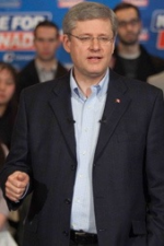 Conservative Party leader Steven Harper.