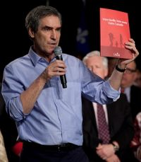 Liberal Leader Michael Ignatieff introduces his election platform. Photo: Courtesy Liberal.ca