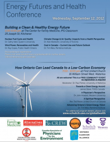 Energy Futures and Health Conference brochure.