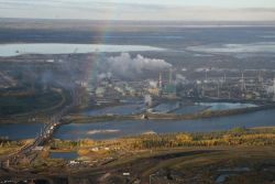*Oilsands plant on Athabasca River