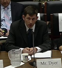 Simon Dyer responds to questions at a U.S. congressional committee hearing on oilsands and technology on March 20, 2012.