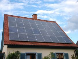 Solar panels on roof in Germany