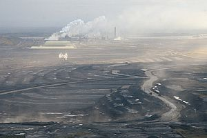 An oilsands mining facility in Northern Alberta.