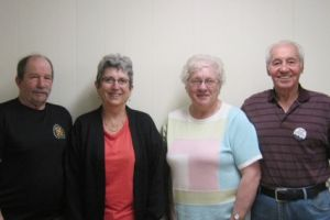 Balfour Seniors' Association members: Dave Sabo, Judy Brown, Carol Thompson, Marven Pedersen