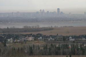 Pollution over Calgary, Alberta.