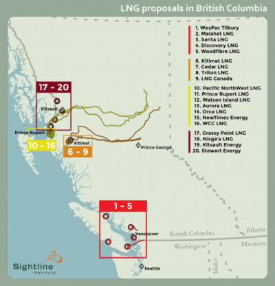 Map LNG in bc