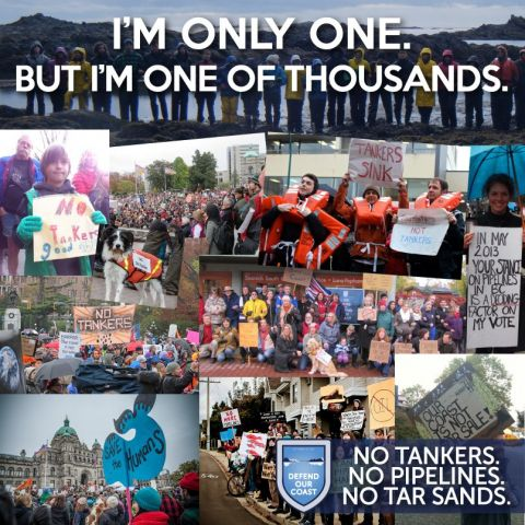 Images of rallies across B.C. opposing the Northern Gateway pipeline and tanker project in fall 2012.