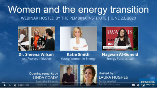 banner for New Energy Economy Women and the energy transition