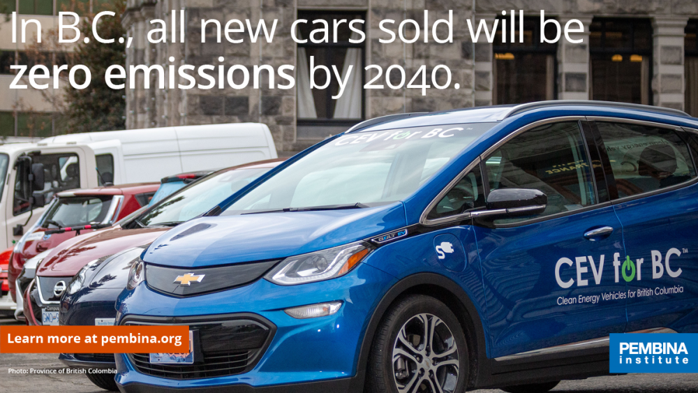 In B.C., all new cars sold will be zero emissions by 2040.