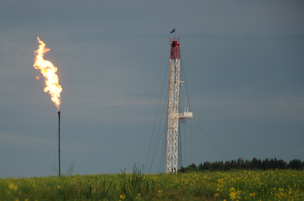 Flaring in an Alberta field