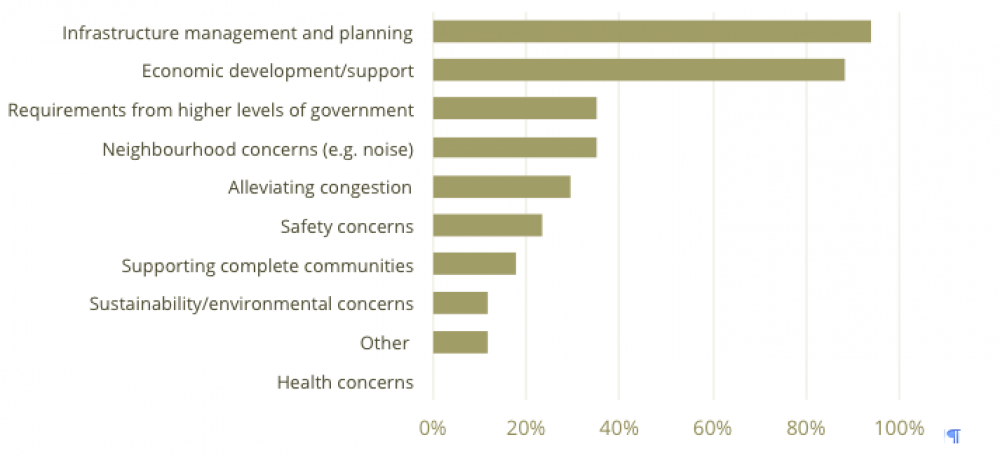 * Top motivations for adopting goods movement policies