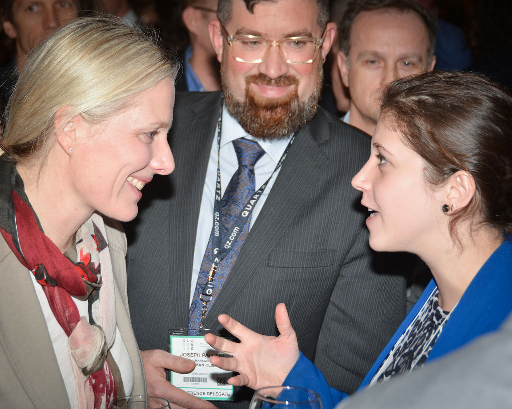 Minister Catherine McKenna and reception attendees