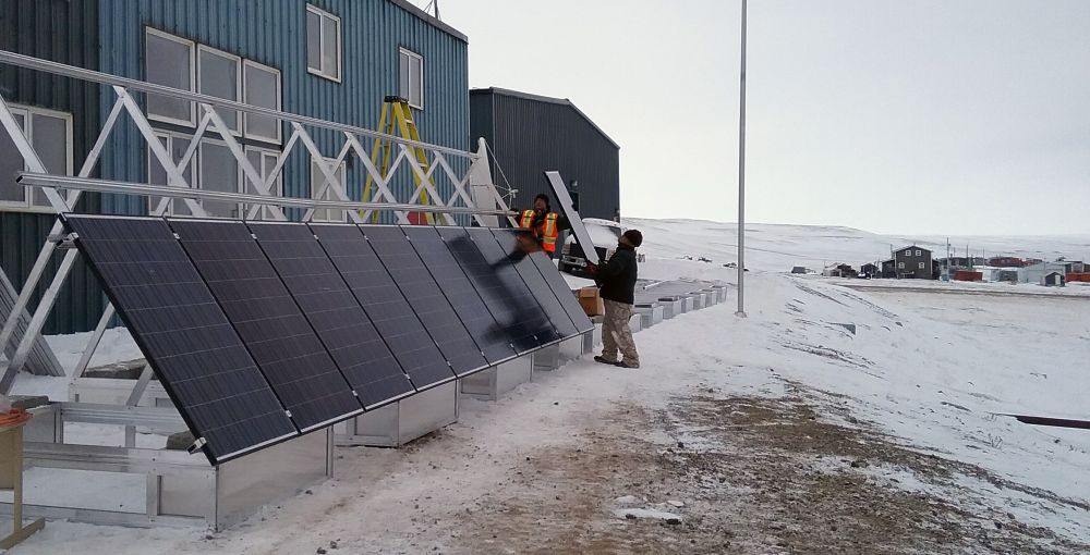Solar installation in Sachs Harbour, NWT.