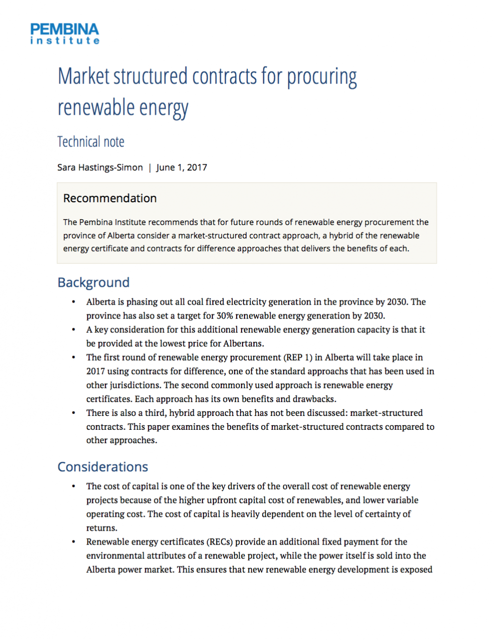Market structured contracts for procuring renewable energy market structured contracts for procuring renewable energy publications pembina institute xflitez Gallery