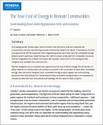 Cover of True cost of energy in remote communities