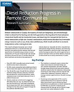 Cover of diesel reduction progress in remote communities
