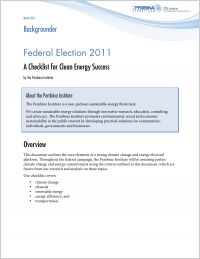 Click to download the Pembina Institute's 2011 election checklist.