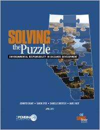 Cover of Pembina Institute report, Solving the Puzzle.