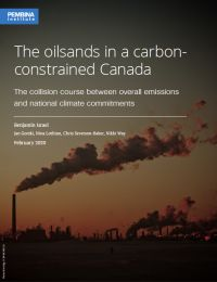Cover of 'Oilsands in a carbon-constrained Canada'