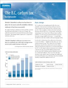 cover of The B.C. Carbon Tax: Backgrounder