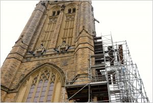 Parliament Hill Centre Block with scaffolding