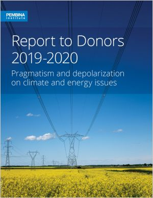 Cover of report to donors
