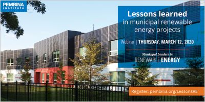 banner for lessons learned in municipal renewable energy