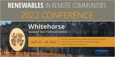 Banner for Renewables in Remote Community 2021