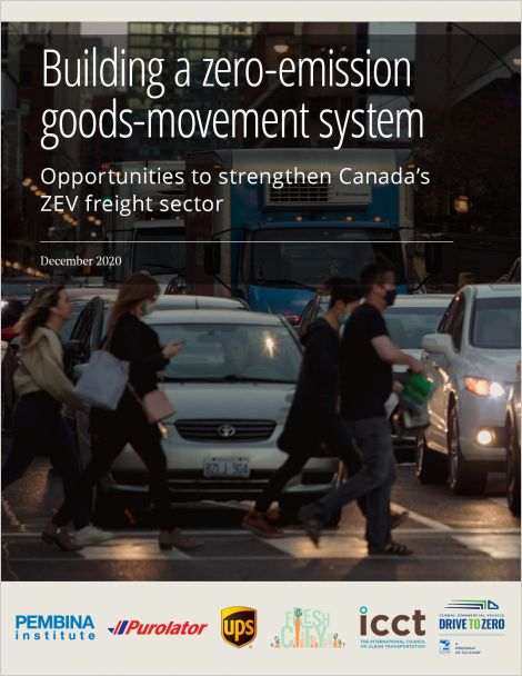 Cover of report on zero-emission goods-movement system