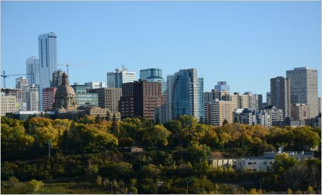 Edmonton skyline with Legislature