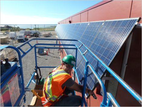 Solar installation in Behchoko, Northwest Territories
