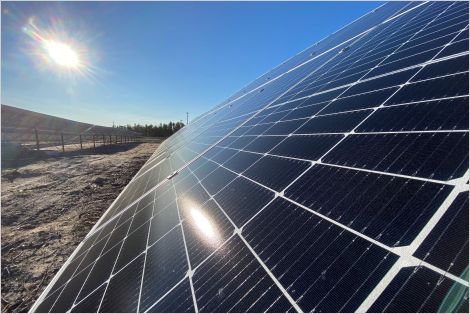 Solar energy system in Fort Chipewyan, Alberta
