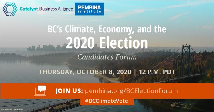 B C Ndp Liberals And Greens Agree To Election Debate On Climate And Economy Pembina Institute
