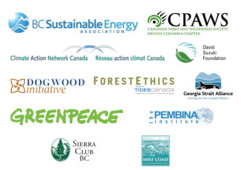 Logos of environmental groups that authored letter to Clark